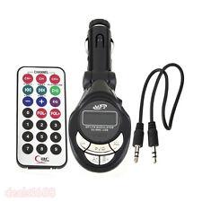 360° Car Kit LCD MP3 Player Wireless FM Transmitter Modulator USB SD MMC Remote