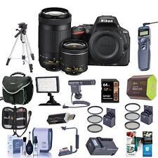 Nikon D5500 DSLR with 18-55mm and 70-300mm DX Lenses, Black w/Pro Acc Bundle