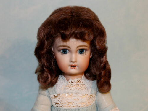 Dee Light Brown mohair wig for antique German or French doll  size 10- 11