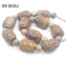 "Jewelry Making Column Carved Hua Show Jade Gemstone Beads Strand 15/"" 13x18mm"