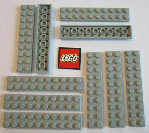 Design ID 3832 Element ID 4211462 10 LEGO Medium Stone Grey 2x10 Plates