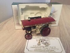 Rare Lledo Show Crich 2001 Gold Plated Showmans Steam Engine Limited