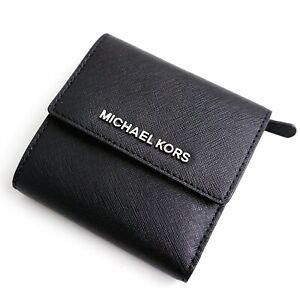 Michael-Kors-portemonnaie-geldboerse-jet-set-travel-sm-carryall-schwarz-silberneu