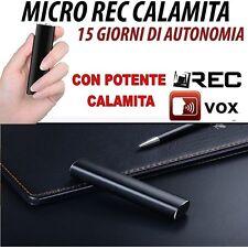 MICRO REGISTRATORE VOCALE AUDIO 8 GB CON CALAMITA SPY MICROSPIA FUNZIONE VOX