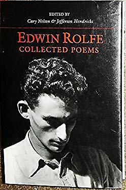 Collected Poems Hardcover Edwin Rolfe