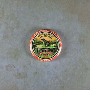 """Vintage Style Beer Advertising Pinback Button 1"""" Bull Frog Ale Maumee Brewing"""