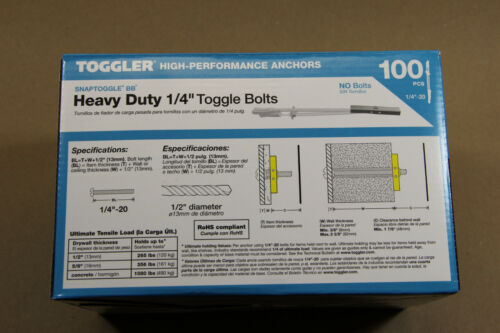 300 Toggler  SnapToggle BB  WITH SCREWS 1//4x3  H// D Toggle Bolts 24014 or 25014