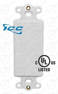 White ICC 6-Port Decora RJ45 Network Keystone Wall Plate Insert UL Listed