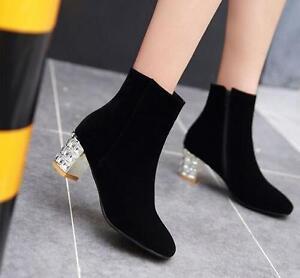 c447154094b3d bottes talons aiguilles chaussures pour femmes talon 6 cm noir ...
