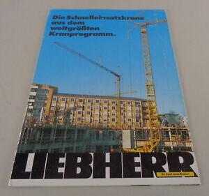 Brochure Liebherr Die Schnelleinsatzkrane from The Weltgrößten Kranprogramm 1989