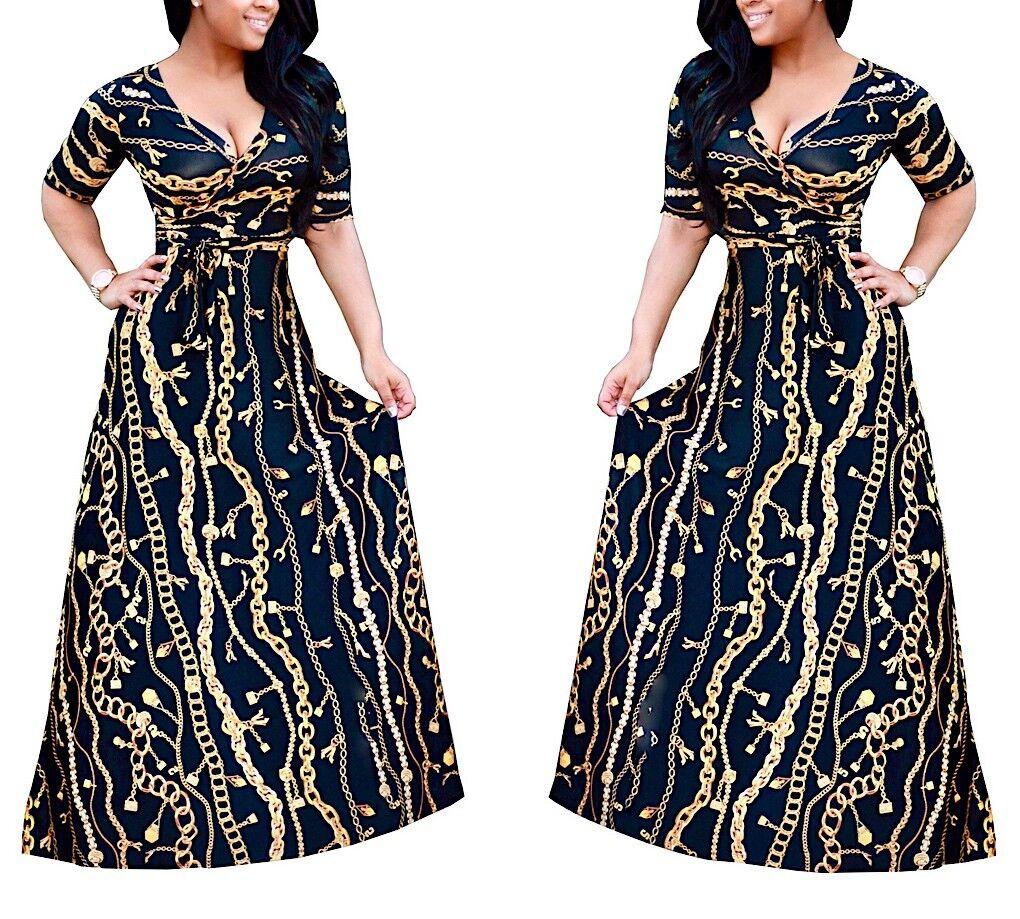 Dress Long Woman even Curvy L-5XL Woman Maxi Dress Oversize Also OS120031