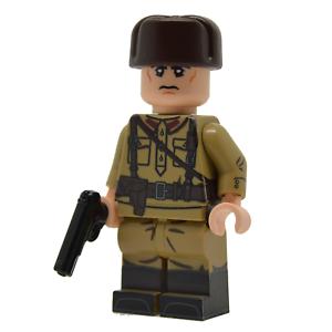 Ww2-Soviet-Officer-aus-echten-Lego-Minifigur-Teile
