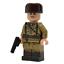 Ww2-Soviet-Officer-aus-echten-Lego-Minifigur-Teile Indexbild 1