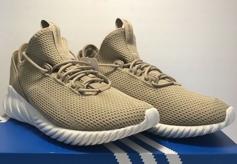 Adidas Uomo doom dimensioni 9.5 tubulare doom Uomo sock primeknit traccia cachi scarpe bianche nuovi 4470de