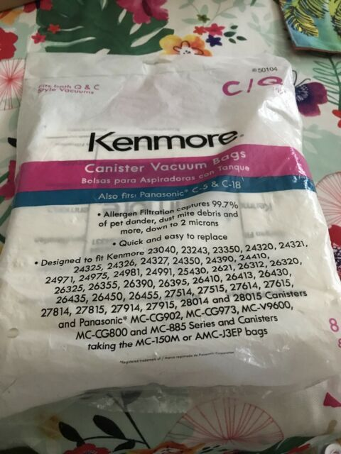 Kenmore  Canister Vacuum Bag for Panasonic C-5 & C-18 - 8 Pieces