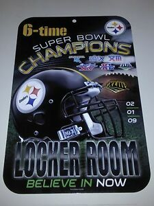 Image is loading Pittsburgh-Steelers-6-Time-Super-Bowl-Champions-Plastic- 4be5a498d
