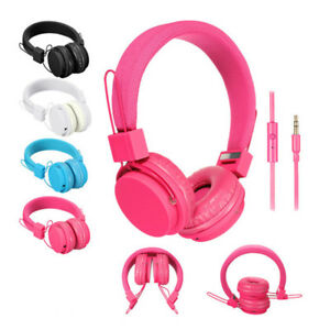 Auriculares-Cascos-Microfono-Musica-On-Ear-Para-Android-SAMSUNG-HUAWEI-MP3-etc