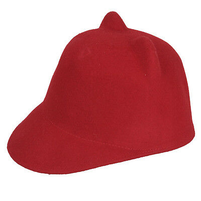 Fashion Kid Girls Devil Horns Hat Cat Ears Wool Felt Derby Bowler Cap 7 Colors