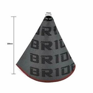 Universal Bride Style Gear Shift Boot Gaiter Gator Material JDM Manual Lanyard