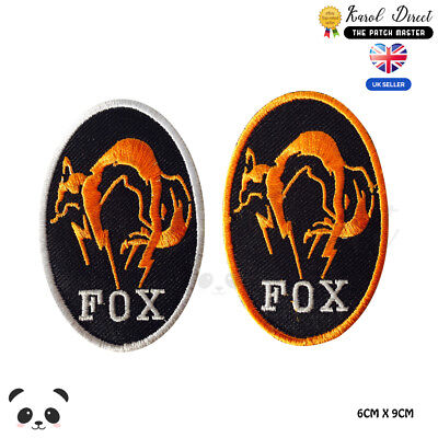 FOX Blue or black color Embroidered logo iron on swe on Patch