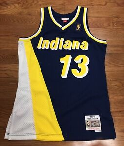 finest selection 7c934 b96da Details about Indiana Pacers Mark Jackson Mitchell & Ness Swingman Jersey