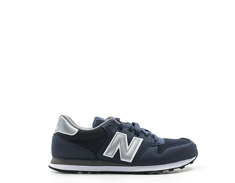 shoes NEW BALANCE men Sneakers  blue PU,Tessuto GM500NAY-U