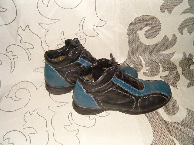 § think § cuero con cordones de botas § Lagenlook botines § ata § 40 §