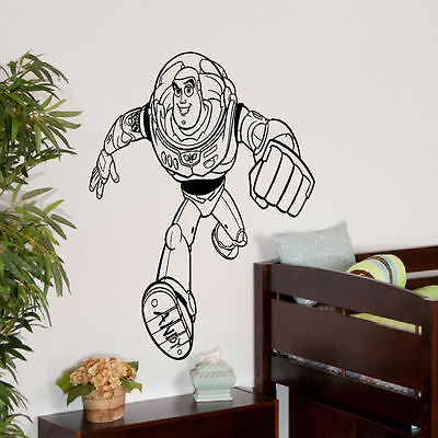 LARGE  TOY STORY 3 PERSONALISED BUZZ LIGHTYEAR WALL STICKER NEW TRANSFER FROM UK