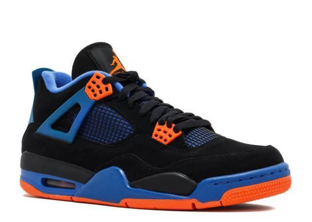 2012 Nike Air Jordan IV 4 Retro SZ 9 Cavs The Shot Black Orange Blue 308497-027