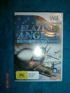 Blazing-Angels-Squadrons-of-WWII-Nintendo-Wii-2006-PAL-game-air-combat
