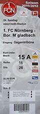 TICKET 2011/12 1. FC Nürnberg - Mönchengladbach