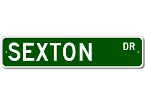 SEXTON Street Sign Personalized Last Name Sign