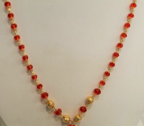 indian gold plated necklace  costume jewellery chain mala women  fashion new