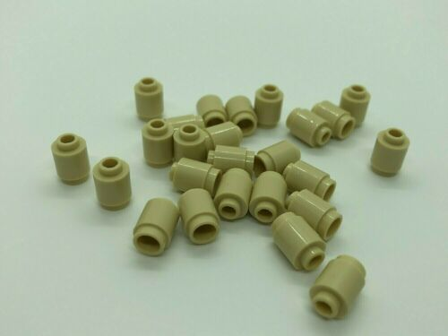 LEGO ® 25x Pierre environ 3062b-Pilier cycle pierres-Beige 1x1-Tan