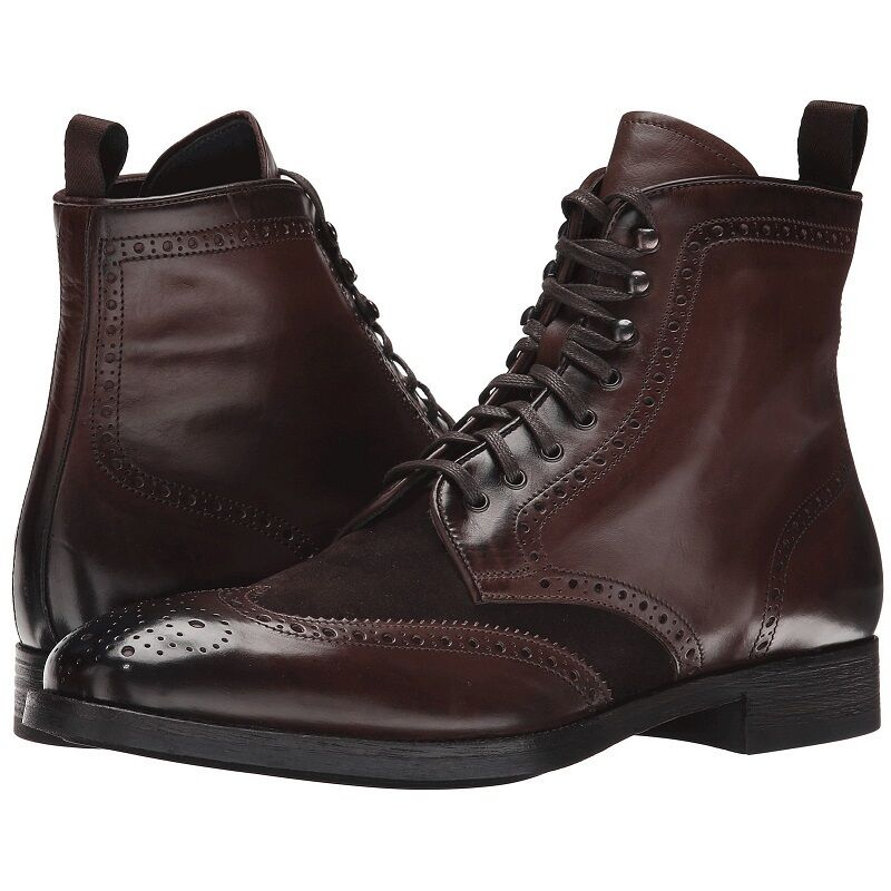 To Boot New York  Brennan  Wingtip Lace-up Leather Boots, Dark Brown