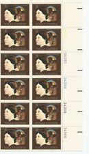 1973 U. S. USPS Scott 1487 Willa Cather Novelist block of twelve 8 cent stamps