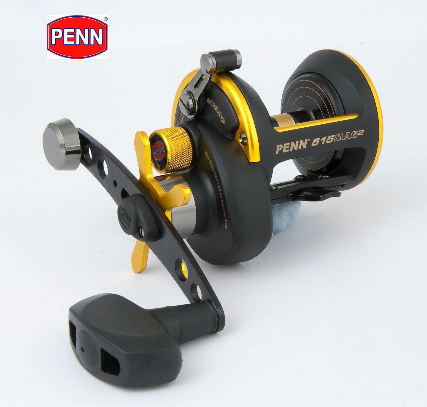 Nieuw PENN 515 MAG2 Series Multiplier Sea Fishing Reel Model nr. 1207532