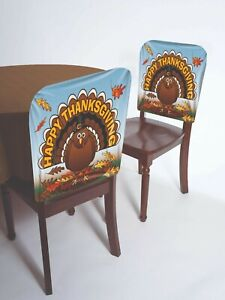Astonishing Details About Forum Novelties Thanksgiving Turkey Vinyl Chair Covers Holiday Decorations 76117 Gmtry Best Dining Table And Chair Ideas Images Gmtryco