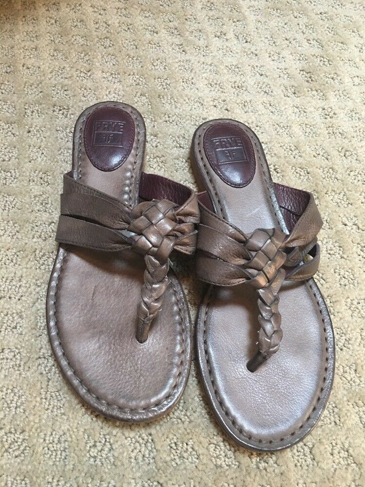 178. New Frye Sandals Flopflops Braided Leather 7.5