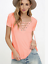 Sexy-Fashion-Women-V-Neck-Short-Sleeve-T-shirt-Casual-Loose-Blouse-Tops-Tee-2019 thumbnail 14