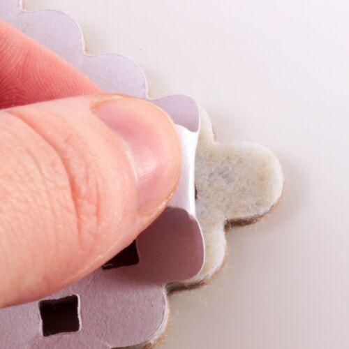 60Pc SMALL ROUND FURNITURE PADS 10mm Felt Self Adhesive Leg Anti Scratch Floor