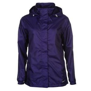 Coats, Jackets & Waistcoats Dynamisch Womens Ladies Gelert Purple Full Zip Waterproof Adjustable Hood Jacket