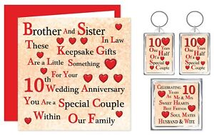 Brother Sister In Law 1st 70th On Your Wedding Anniversary