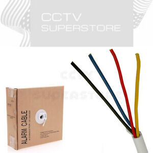 Fire-Security-Wire-Burglar-Alarm-22-4-Cable-1000FT-Stranded-White-Cable-1000-039
