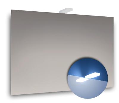 Luce A Led Per Specchio Bagno.Specchio Bagno Semplice 70x50 Cm Con Luce A Led Per Specchio