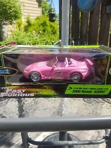 Ultra-Rare-Fast-and-The-Furious-pink-2000-1-18-die-cast-honda-UNOPENED-read-desc