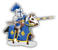 Knight Horse Rider Car Bumper Sticker Decal 5'' x 4''
