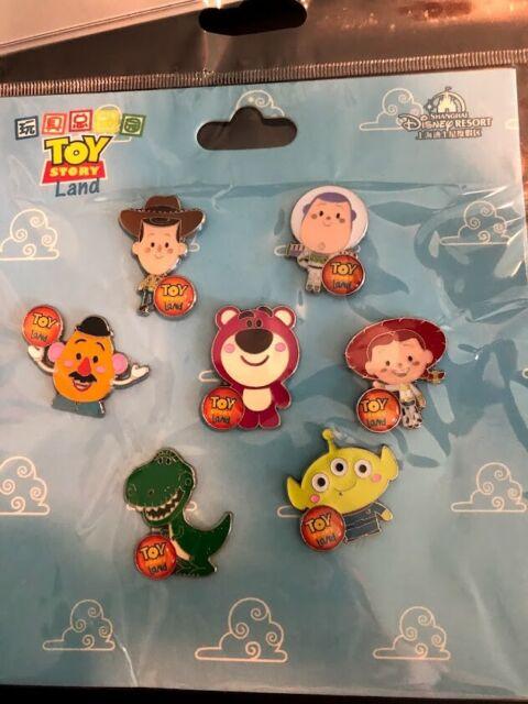 Buzz Lotso /& Mr Potato Woody Jessie Disney Toy Story Land Pin Booster Set