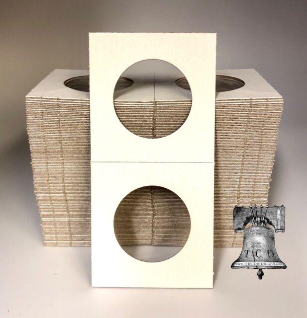 100 2x2 KENNEDY Half Dollar Mylar Flip Cardboard Coin Holder Storage Flips Case