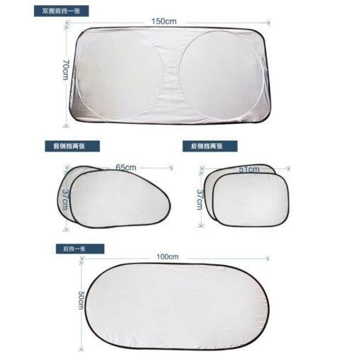 6pcs//set Car Window Sun Shade Foldable Windshield Full Shield Visor Block Cover
